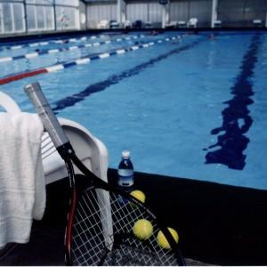 בריכת השחייה המחוממת